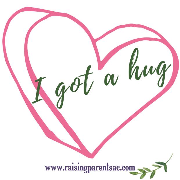 I got a hug